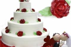 torta nuziale rose